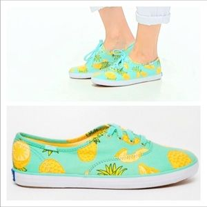 Pineapple print Keds canvas lace up sneakers